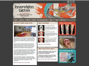 Inner Vision Tattoo Website Design