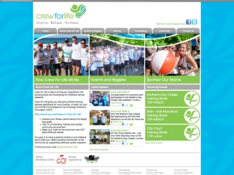 Crew For Life Website Design