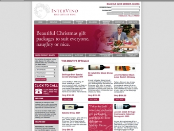 Intervino Website Design