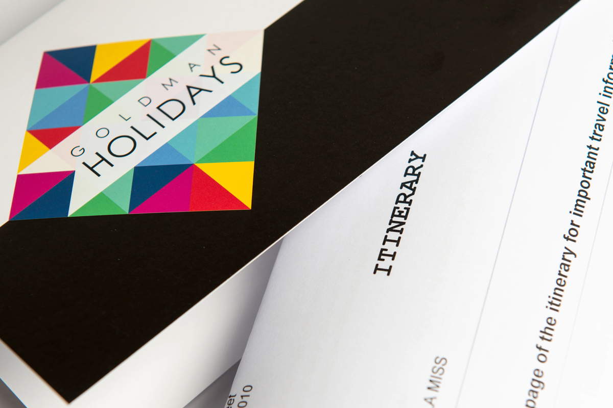Goldman Holidays itinerary covers close-up