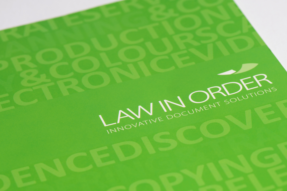 Law in Order brochure cover