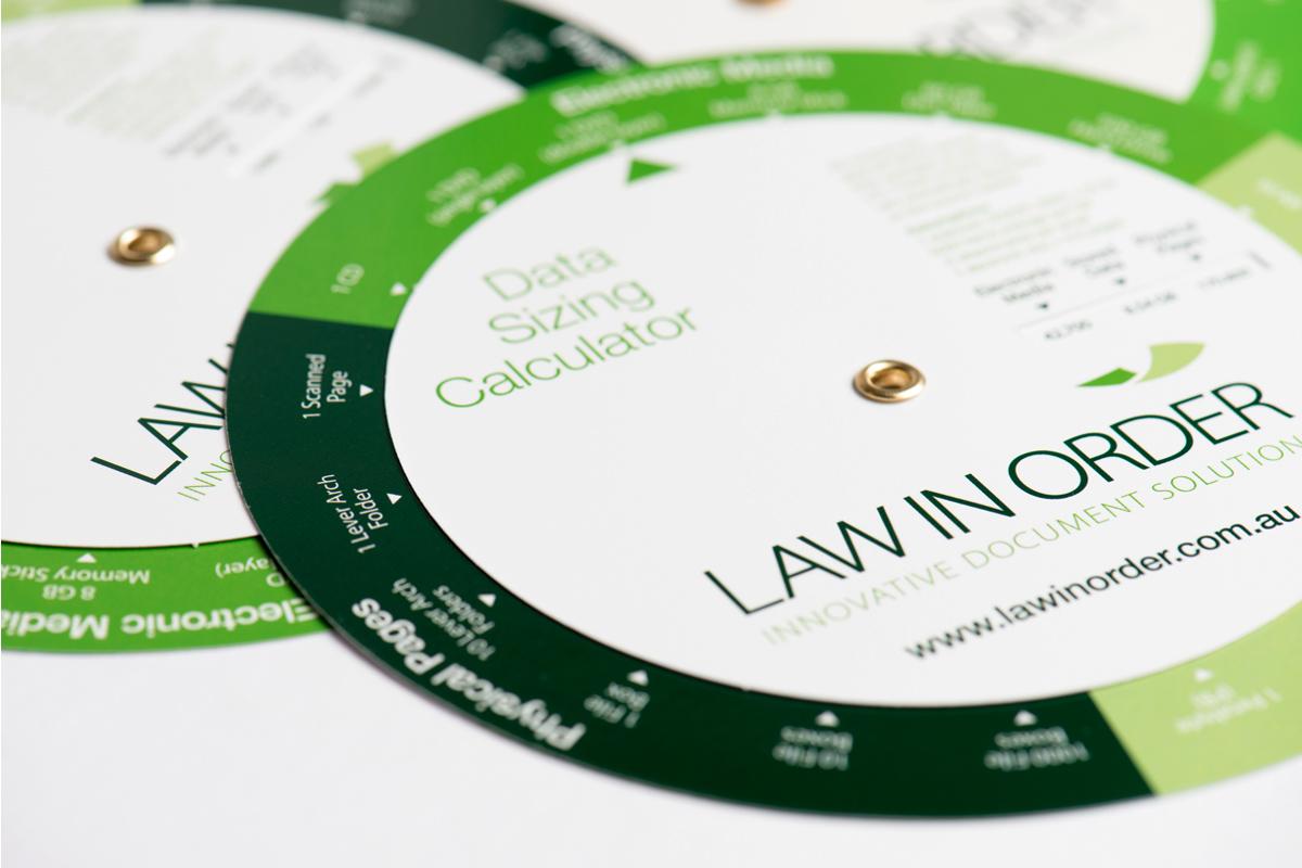 Law in Order Data Sizing Calculator