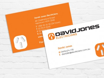 David Jones Electricians Business Card