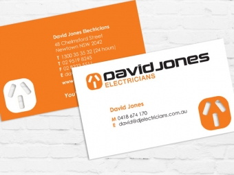 David Jones Electricians Brand, Collateral Design & Signage