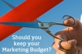 Should you keep your Marketing Budget?