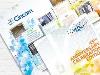 Cincom 45th Anniversary Mural & Brochure Design