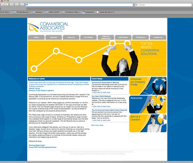 Commercial Associates Website Design