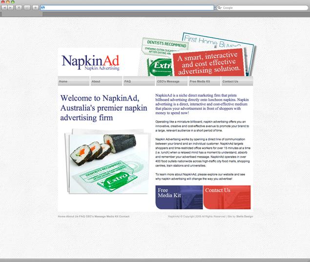 NapkinAd Web Design