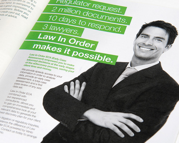 Law in Order Advertisement Design